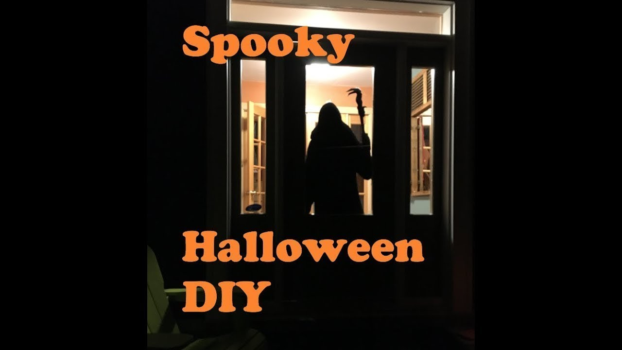 scary life-size halloween silhouette - youtube