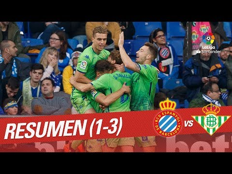 Resumen de RCD Espanyol vs Real Betis (1-3)