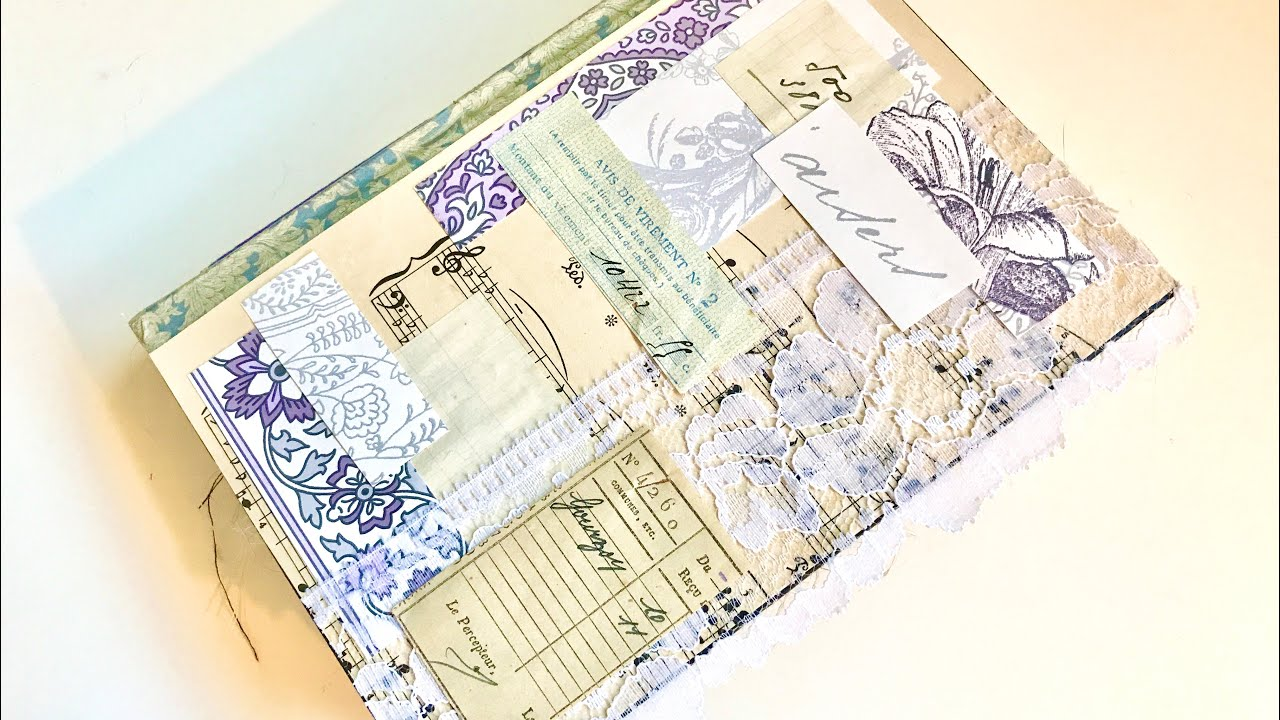 Purple collage journal (sold)