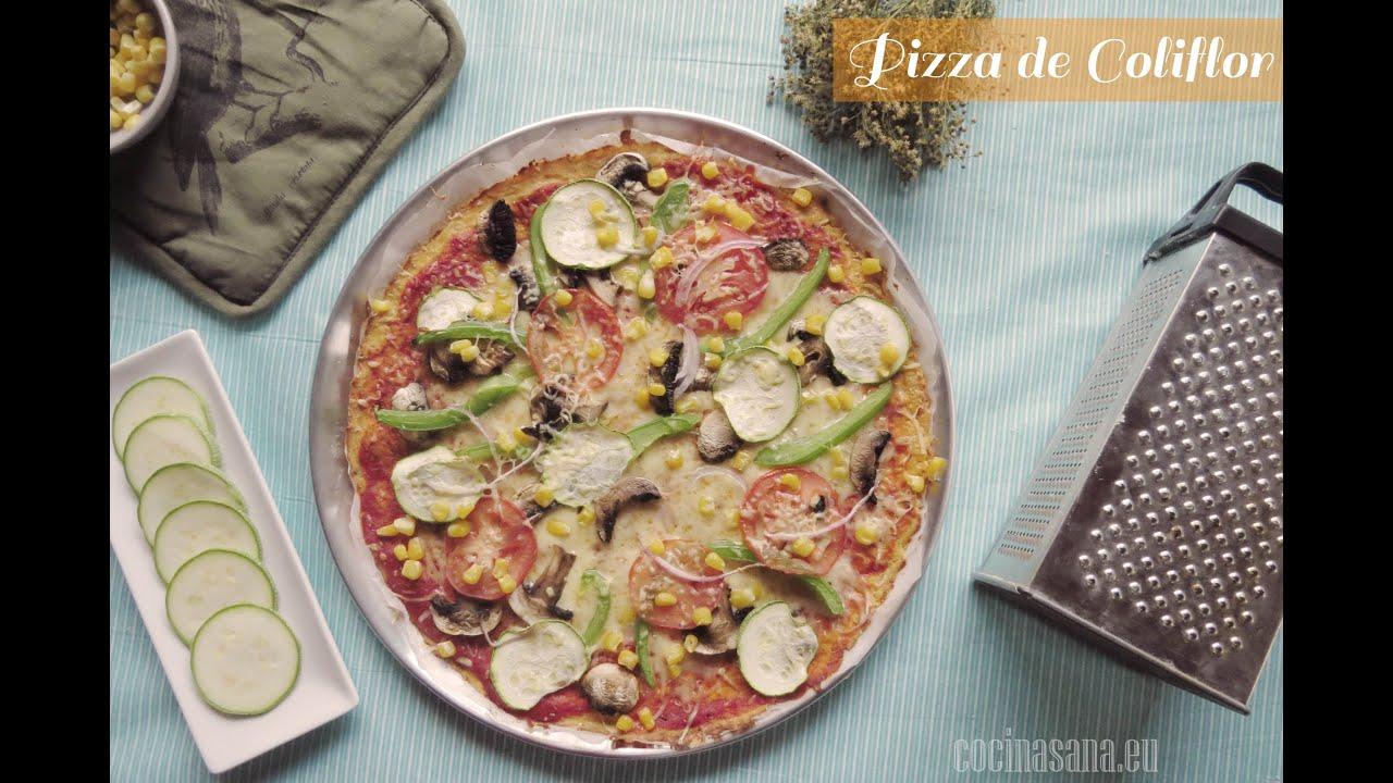 Pizza Sin Gluten de Coliflor: Receta para Celiacos - YouTube