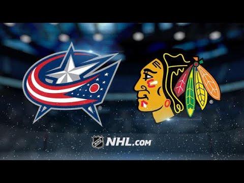 COLUMBUS BLUE JACKETS VS CHICAGO BLACKHAWKS 10/7/17