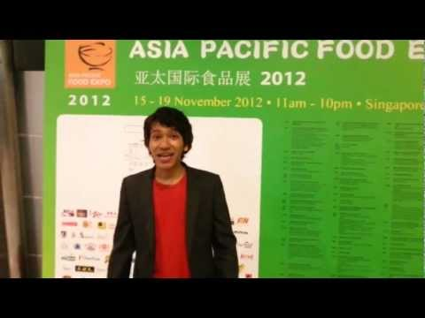 Singapore Emcee Van Ram at the Asia Pacific Food Expo