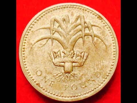 1985 One Pound Coin UK- Welsh Leek