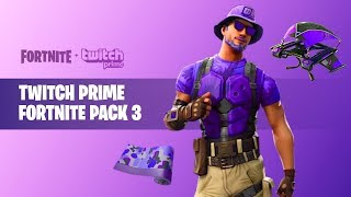 "Claim this ""TWITCH PRIME PACK 3"" in Fortnite *FREE ITEMS* (New Fortnite X Twitch Prime Loot)"