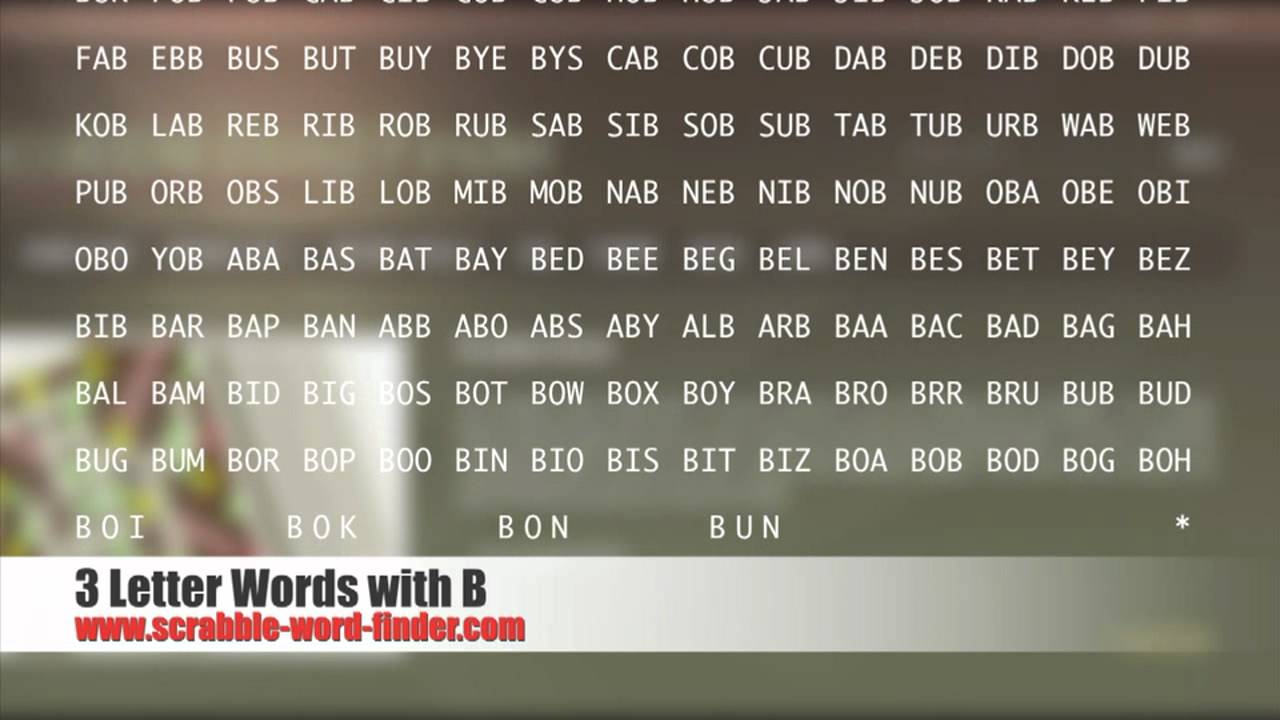 3 letter words with B   YouTube