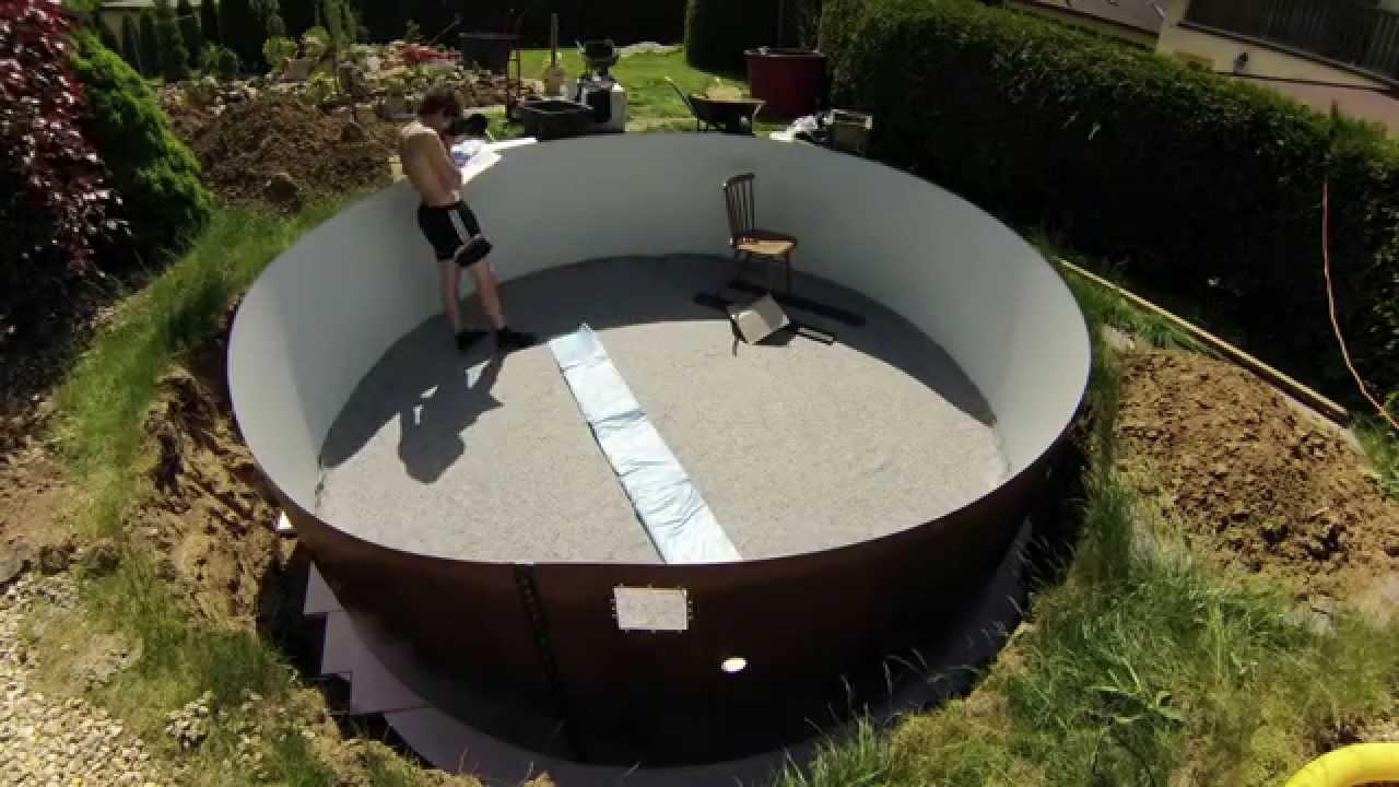 Bazén azuro 402 montáž