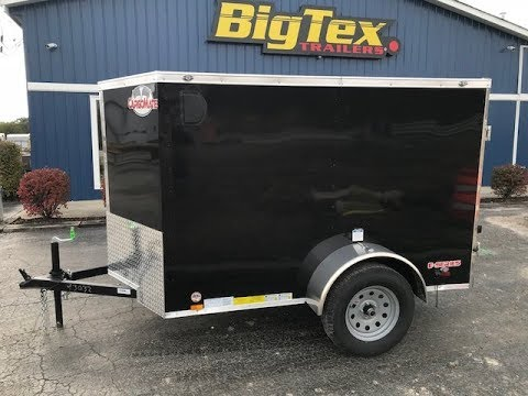 Cargo Mate 5x8 v nose enclosed trailer is on sale $1995