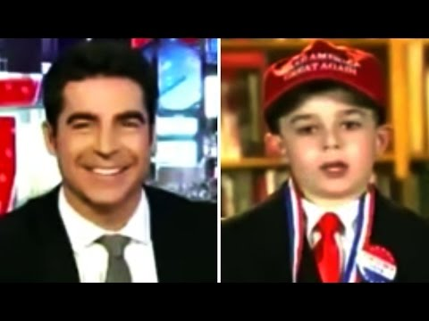 Fox News: Jesse Watters Gleefully Exploits a 9-Year-Old 'Trump Supporter' for His Obnoxious Show