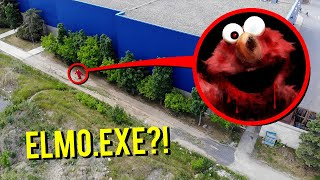 DRONE CATCHES ELMO.EXE AT ABANDONED MOVIE THEATRE!! (ATTACKED)