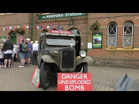 A Hampshire Railway Transports You Back To The 1940's For A Look At Life During The War