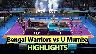 Pro Kabaddi 2019 Highlights[Hindi]: Bengal Warriors Beat U Mumba | Sports Tak