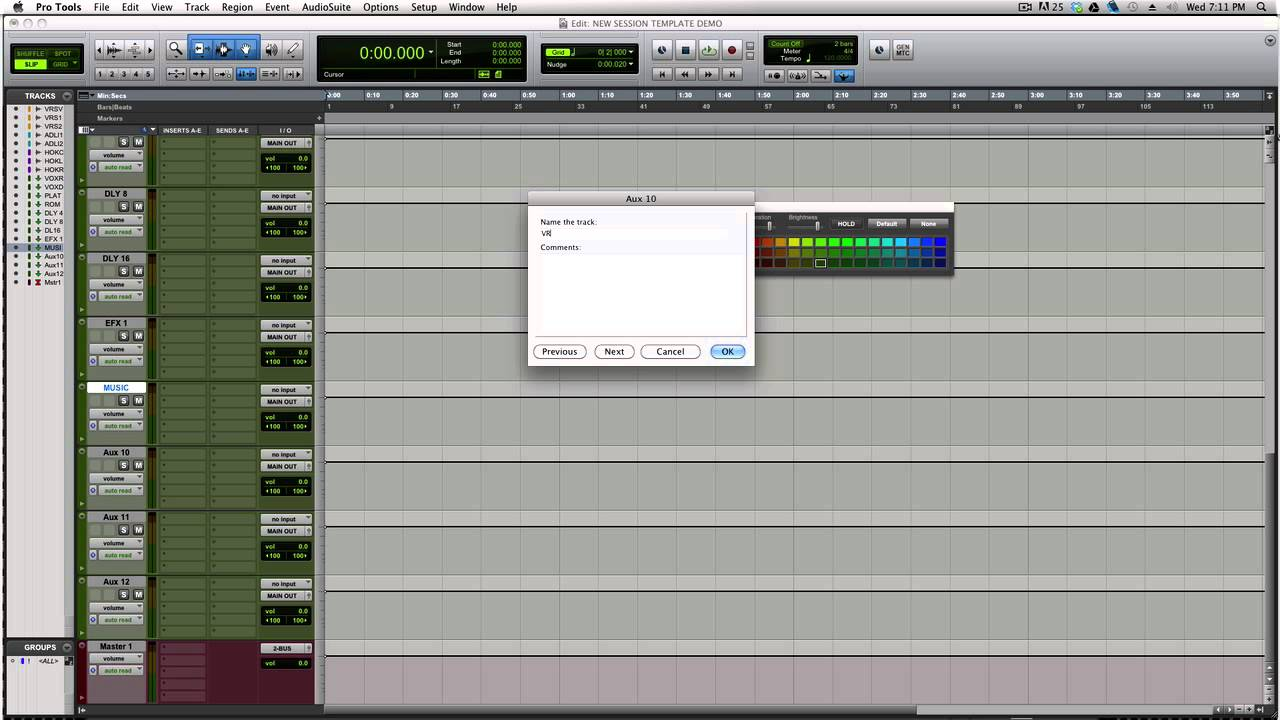 Mixing Rap & Hip Hop in Pro Tools (Creating Session Templates ...