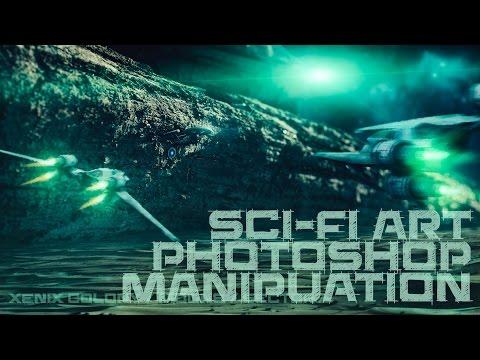 Xenix space colony sci fi art photoshop manipulation - speed art