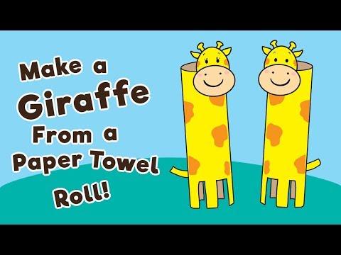 Make a Giraffe From a Paper Towel Roll