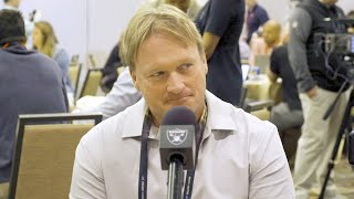 Coach Gruden talks offseason moves, vision for Raiders