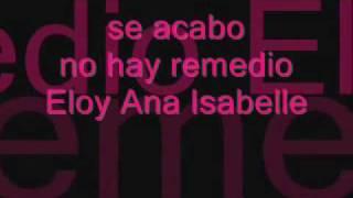 eloy ft ana isabel - se acabo letra