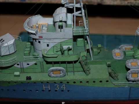 ORP Blyskawica Paper model- The build