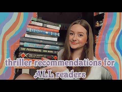 mystery thriller book recommendations for readers of ALL genres | thrillers for beginners