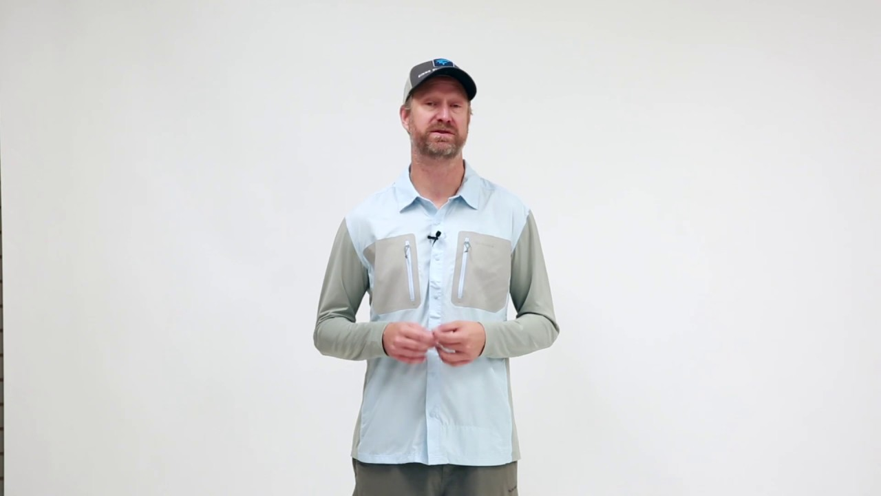 Simms Tricomp Cool Mist XL Teknisk skjorte Skitt Fiske