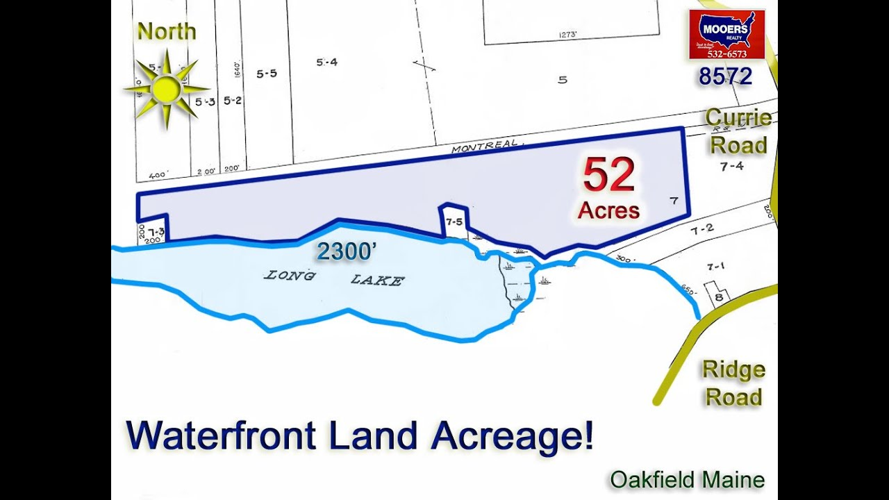Sold Land For Sale On A Maine Lake 52 Acres On Waterfront