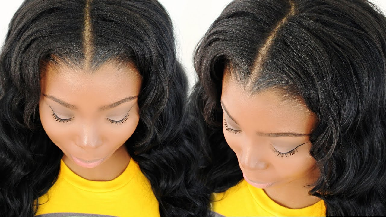 Blending Amp Straightening Your Leave Out With Your Sew In