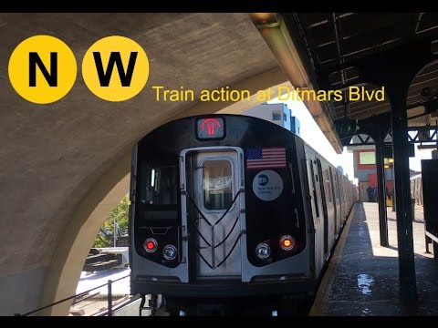 NYC Subway - BMT (60FPS): R160B (N) and (W) Train action at Ditmars Blvd