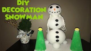 DIY SNOWMAN DECORATION!!