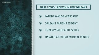 First COVID-19 coronavirus death in Louisiana; 77 total cases diagnosed