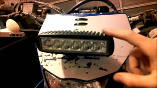 Superbright Led Trail Light From Ebay On Dirtbike, Install And Test Ride! Wow!!!!