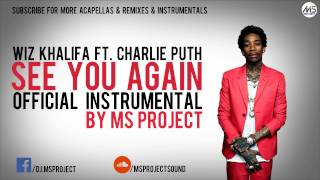 Wiz Khalifa - See You Again Ft. Charlie Puth (Official Instrumental) + DL