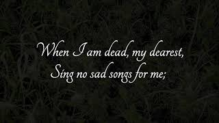"""""""When I am dead, my dearest"""" Poem by Christina Rossetti, Music: Linda Trillhaase"""