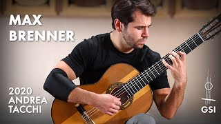 "Max Brenner plays his ""Corners"" on a 2020 Andrea Tacchi ""Coclea Thucea - Fibonacci - Clair de Lune"""