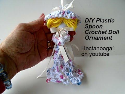 CROCHET, Victorian Doll Ornament,  Christmas Ornament, Video #1168