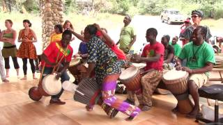 M'Bemba Bangoura and other Master Drummers jam at Camp Fareta 2013