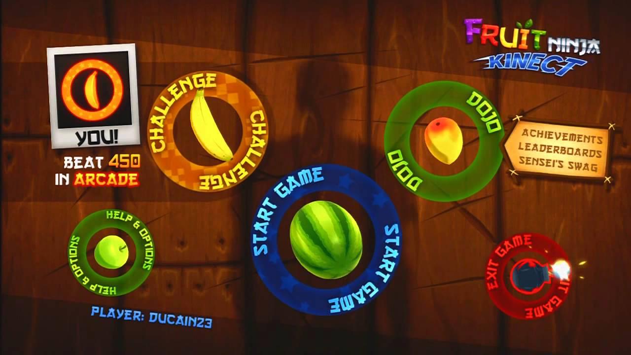 Lets Play  Fruit Ninja Kinect HD  YouTube