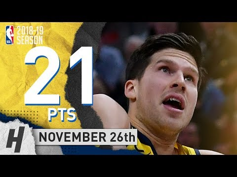 Doug McDermott Full Highlights Pacers vs Jazz 2018.11.26 - 21 Pts, 2 Ast, 6 Rebounds!