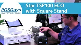 A quick look at using the tsp100 eco thermal receipt printer with square stand. tsp100eco is an eco-friendly that cuts down on ...