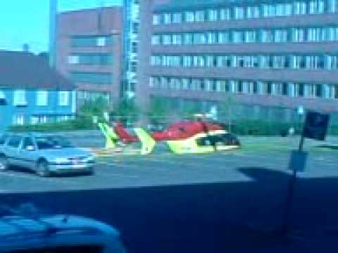 Norway, Tonsberg, hospital helicopter