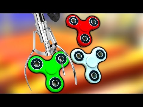 FIDGET SPINNER CLAW MACHINE WINS - WON EVERY COLOR!!