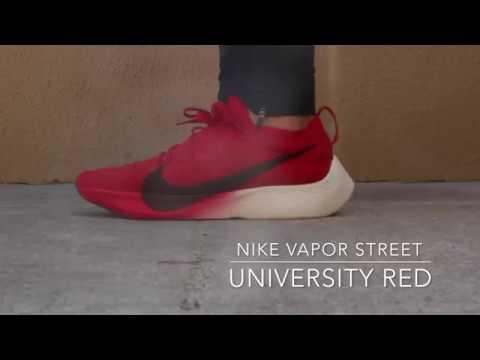 nike vapor street flyknit red