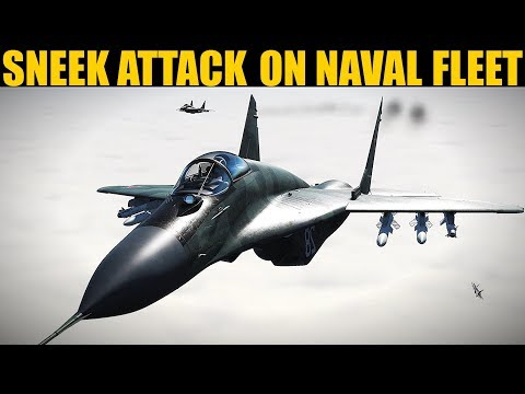 MASS Air Battle During Mission To Strike Naval Fleet In Dock | DCS WORLD