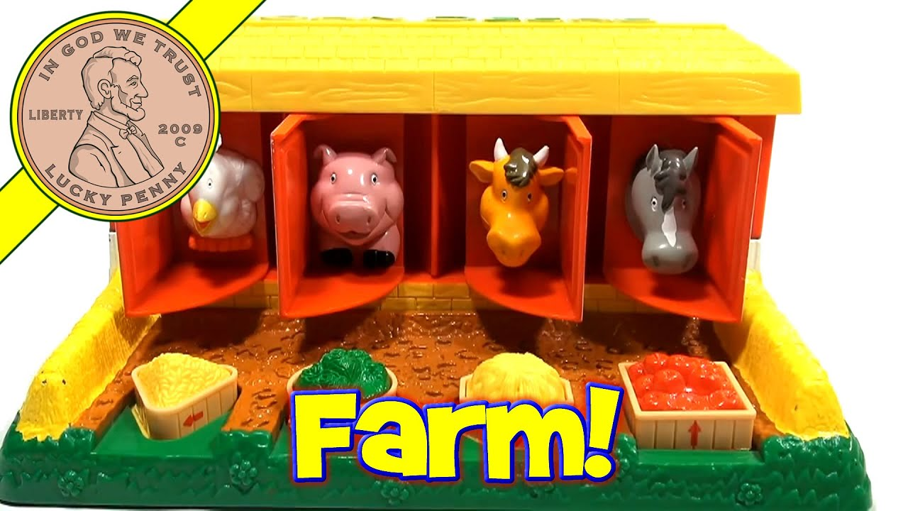 John Deere Pop Up Barn Animals Toy By Rc2 Youtube