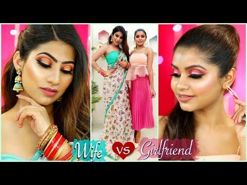 GIRLFRIEND vs WIFE - Valentines Day MAKEUP Challenge | #Skincare #WOWSkinScience #Anaysa - Видео онлайн