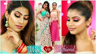GIRLFRIEND vs WIFE - Valentines Day MAKEUP Challenge | #Skincare #WOWSkinScience #Anaysa