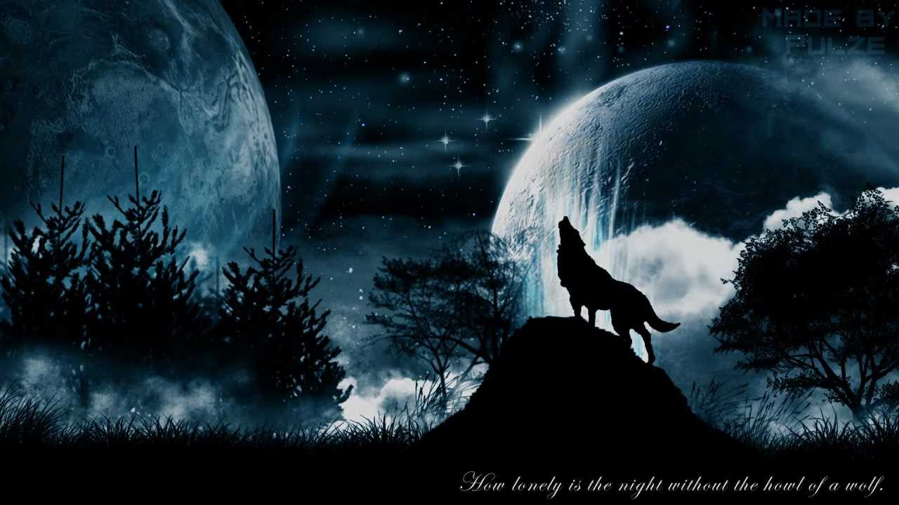 Wolf Howling With Galaxy Background Novocom Top