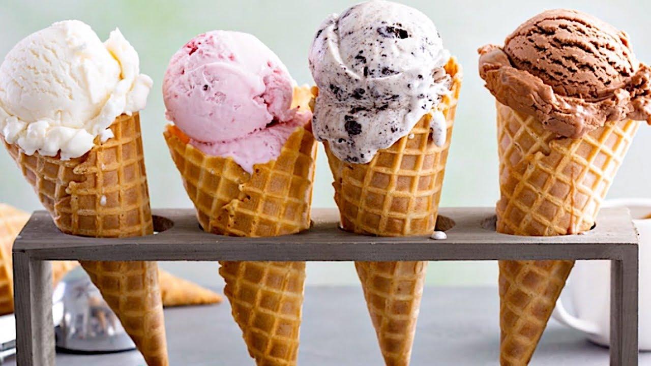Ice cream fried - an unusual dessert