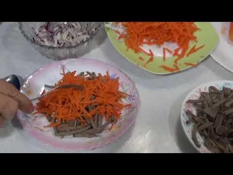 салат из говяжьей печени с морковью быстро и вкусно