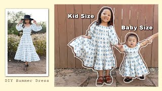 Making smaller versions of my Perfect Summer Dress | Sewing Kids and Baby Dresses