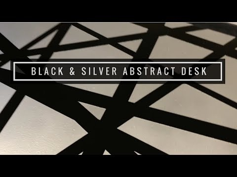 Black & Silver Abstract Desk