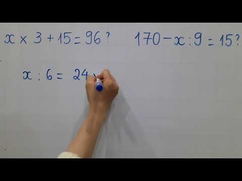 Toán Lớp 3 (lớp 4 Xem Lại)- Tìm X Nâng Cao X × 3 + 15 = 96?    170 - X : 9 = 15 ?.